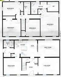 House Plans 2 Floors Simple 2 Story Rectangular House Plans Home Deco Plans