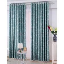 Blue Floral Curtains Blue Floral Print Poly Cotton Blend Country Room Darkening Curtains