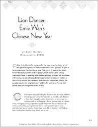 lion dancer book lion dancer ernie wan s new year winter picture