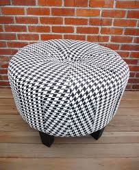 Etsy Ottoman 253939 Black And White Houndstooth Ottoman Mzad On Etsy