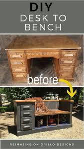 Desk Hammock Diy by Diy Desk To Bench Desks Tutorials And Woods