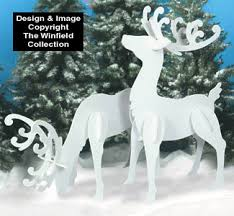 large white reindeer wood patterns diy projects