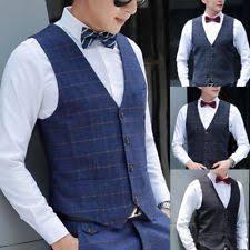 button tuxedo casual waistcoats for men ebay