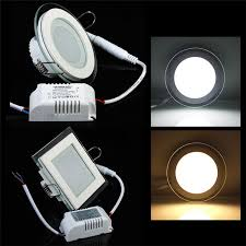 newest 3 color change led downlight recessed ceiling panel light