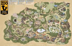 San Diego Safari Park Map by Zoo Map