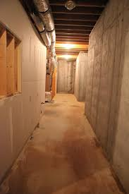 cozy painting poured concrete basement walls wall painting ideas
