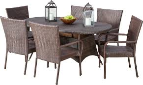 three posts barney 7 piece dining set u0026 reviews wayfair