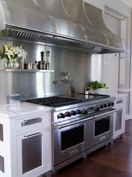 commercial kitchen backsplash floating stainless steel shelf transitional kitchen vicente