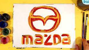 mazda logos how to draw mazda logo auto logo car on halloween youtube