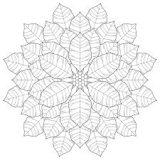 poinsettia mandala coloring pages fractal coloring page