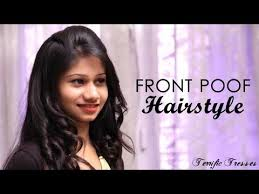 front poof hairstyles how to do perfect front poof youtube