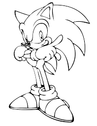 Cool Sonic The Hedgehog Coloring Page H M Coloring Pages Free Sonic Coloring Pages
