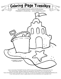 Dulemba Coloring Page Tuesday Sandcastle Sandcastle Coloring Page