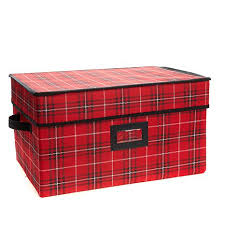 Box Ornament Improvements Plaid 72 Count Ornament Box 8492993 Hsn