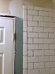 Shower Tile Installation Aimlessly Bathroom Remodel Shower Tile Done