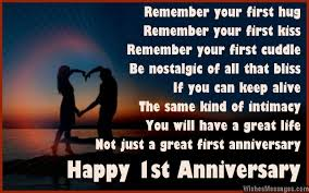 10 Year Anniversary Card Message 1st Anniversary Poems For Couples Happy First Wedding Anniversary