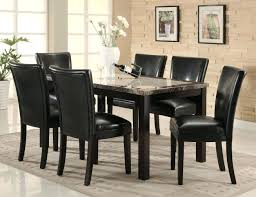 sophisticated black faux leather dining room chairs modern