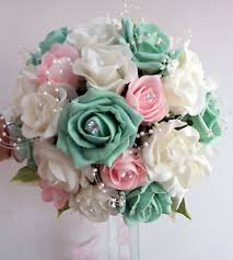 wedding flowers roses wedding flowers brides bouquet ivory pale pink mint green