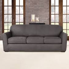 Slipcover For Leather Sofa by Sure Fit Ultimate Stretch Box Cushion Sofa Slipcover U0026 Reviews