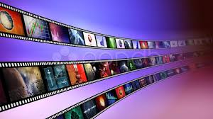 camera reel wallpaper loop able animation of film reels with a blue background hi res