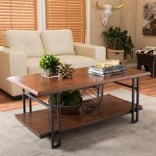 Bronze Table Ls For Living Room Baxton Studio Herzen Medium Brown Wood Finished Coffee Table 28862