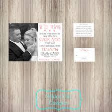 wedding reception invitation with photo wedding reception