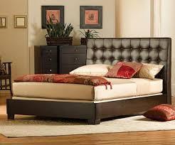 attractive leather headboard king size bed leather bed headboards