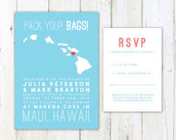 destination wedding invitations hawaii wedding invitation destination wedding invitation