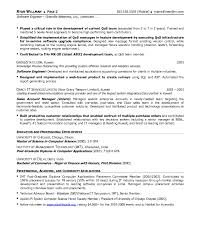 Sample Resume Pdf by Resume Examples Software Engineer Resume Free Software Engineer