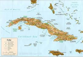What Is A Physical Map Maps Of Cuba