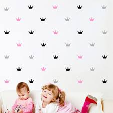 popular crown decals buy cheap crown decals lots from china crown gold crown princess wall sticker for girls bedroom removable home decoration art wall decals diy waterproof