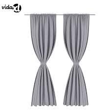 Bedroom Curtain Sets Aliexpress Com Buy Vidaxl 2pcs Slot Window Curtain Sets Solid