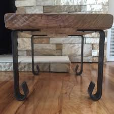 industrial modern coffee table handcrafted forged rustic reclaimed metal coffee table legs steel