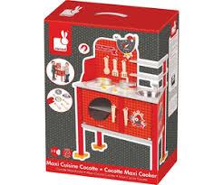 cuisine en bois jouet janod janod maxi cuisine bois the cocotte j06543 au meilleur