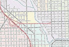 chicago map streets infographic of the day city maps made only of typefaces