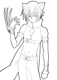 shugo chara catman anime coloring pages for kids printable free