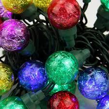 set of 25 multi color tinsel wide angle led g30 globe christmas