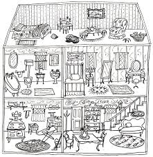 printable dollhouse coloring pages alltoys for