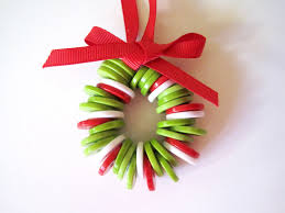 small christmas wreath made with buttons creations hq
