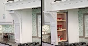 Kitchen Cabinets Spice Rack Pull Out Spice Rack Pullout In The Range Hood Columns Cabinet