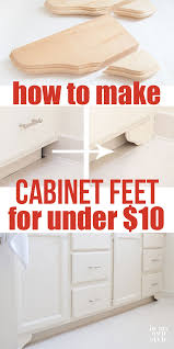 How To Make Bathroom Cabinets - how to make diy decorative wood feet for bathroom or kitchen