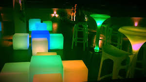 illuminated led furniture smooth effect by the events store youtube