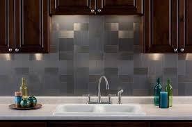 stainless steel tiles for kitchen backsplash aspect 3 x6 brushed stainless grain metal backsplash tile kit
