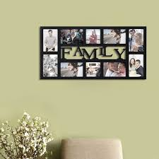 Picture Wall Collage by Adeco Decorative Black Wood