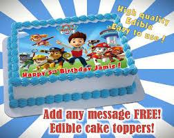 paw patrol cake topper etsy
