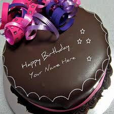 write name on happy birthday chocolate cake happy birthday cake