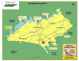 Tennessee Highway Map by Hamblen County Tennessee Century Farms