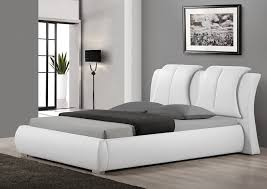 Amazing Of White Leather Bedroom Furniture Popular White Leather - White leather contemporary bedroom furniture
