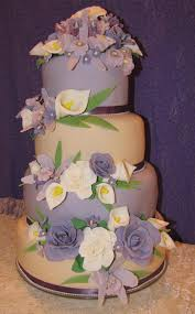 wedding cake gum ivory and purple fondant wedding cake 3 tier gum paste orchids