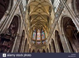 gothic interior gothic interior ceiling in nave of st vitus s cathedral prague s